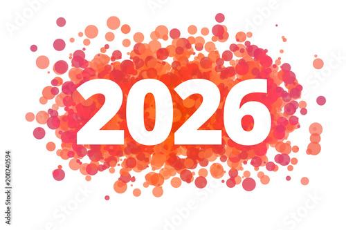 Poster  Jahr 2026 - dynamische rote Punkte