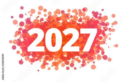 Fotografia  Jahr 2027 - dynamische rote Punkte