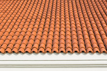 Red Corrugated Tile Element Of...