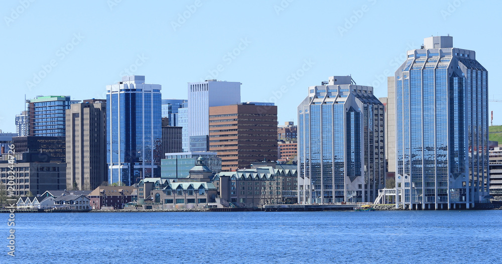Fototapety, obrazy: Halifax, Nova Scotia city center on a beautiful day