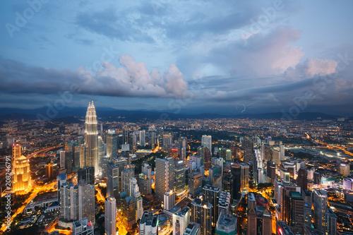 Foto op Canvas Asia land Kuala Lumpur city at dusk, Malaysia