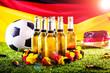 canvas print picture Weltmeister BIER ( Deutschland )