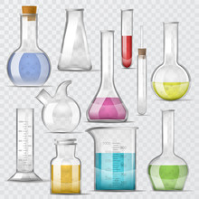 Test-tube Vector Chemical Glas...
