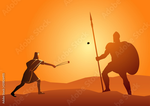 David and Goliath Canvas Print