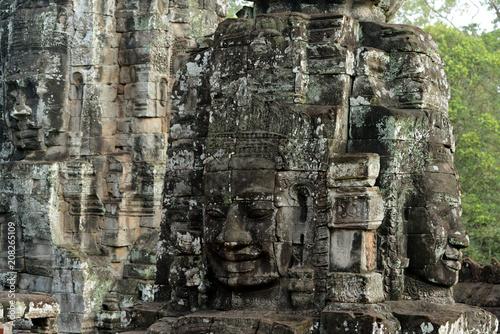Foto op Aluminium Rudnes CAMBODIA SIEM REAP ANGKOR THOM BAYON TEMPLE