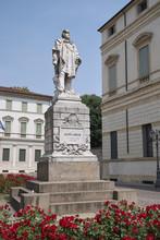 Vicenza, Italy - May 26, 2018: Giuseppe Garibaldi Statue