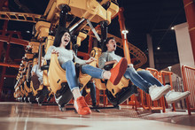 Friends Are Shocked By Speed Of Carousel.