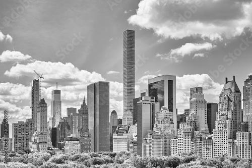 Poster New York City Black and white picture of Manhattan skyline, New York City, USA.