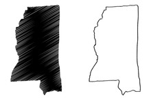 Mississippi Map Vector Illustr...