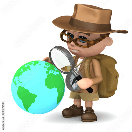 Photo Vector 3d Explorer world
