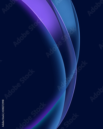 Foto op Plexiglas Abstract wave Abstract blue curve wave background