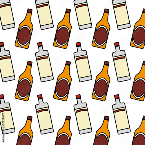 kolorowe-tlo-wodka-i-piwo-butelka-trunek