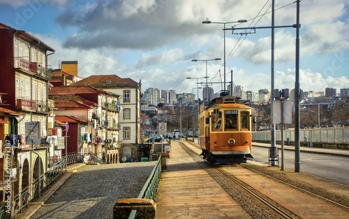 Tramway car in Porto, Portugal