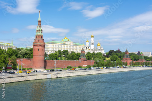 Foto op Aluminium Moskou Moscow skyline with Kremlin, Russia