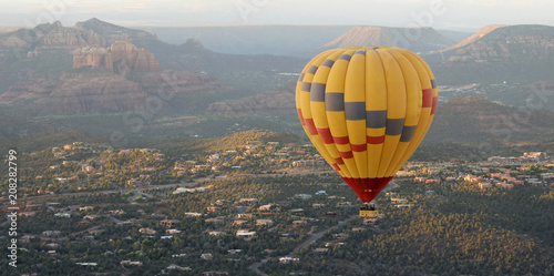A Hot Air Balloon Soars Above Sedona, Arizona