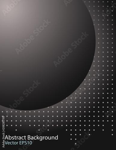 Staande foto Abstractie Art Dark sphere vector background