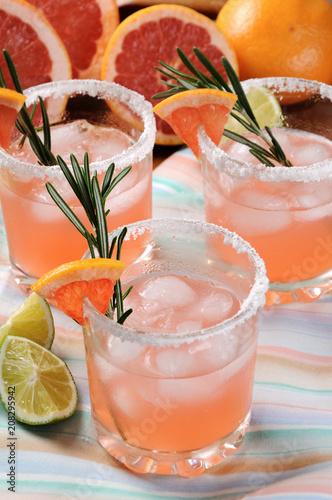 Fotobehang Cocktail cocktail sparkling pink Paloma