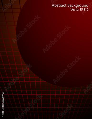 Staande foto Abstractie Art Dark red sphere vector background