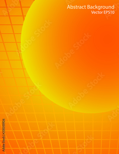 Staande foto Abstractie Art Orange and red sphere vector background
