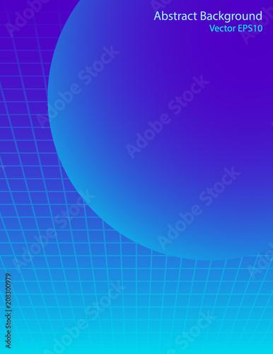 Staande foto Abstractie Art Blue sphere vector background