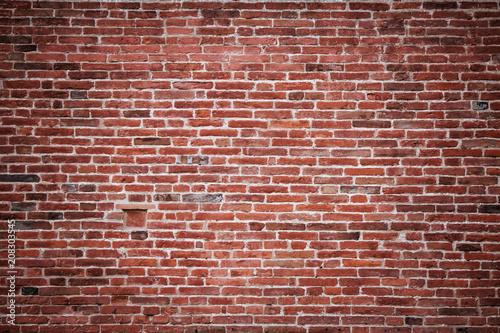 Spoed Fotobehang Baksteen muur The texture of an old brick wall.