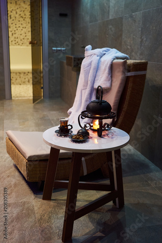 Herbal Tea On Table In Spa Salon Interior Tea Ceremony Concept Buy This Stock Photo And Explore Similar Images At Adobe Stock Adobe Stock
