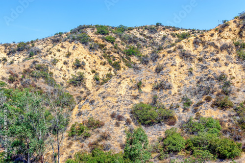 Keuken foto achterwand Beige Dry summer hills of Southern California on warm morning