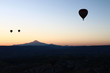 Hot air balloon with Erciyes mountain