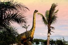 Sauropods Dinosaur  On Beautif...