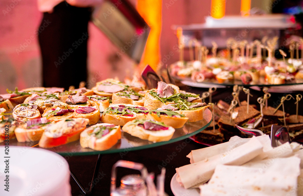 Fototapety, obrazy: Snack on a buffet table during a party