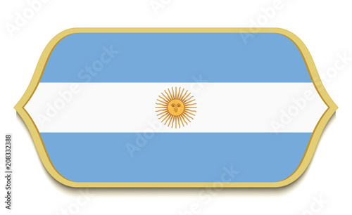 Argentina Flat National Flag Icon Button Argentinian Symbol