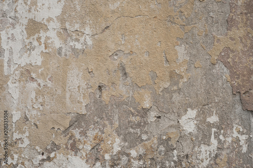 Fotoposter Oude vuile getextureerde muur old concrete wall texture background.