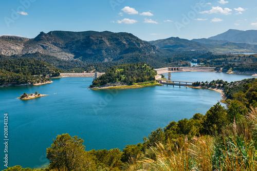 dam Tajo de la Encantada in gorge Chorro, Malaga province, Spain Canvas Print