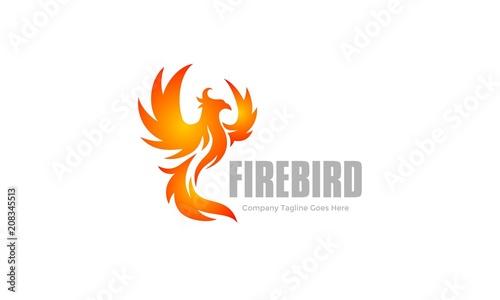 Photo  Flame Bird - Fire Wing Logo - Phoenix Vector
