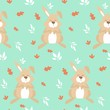 Smile animal seamless pattern vector illustration