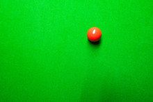 Snooker Table Top View With Sn...