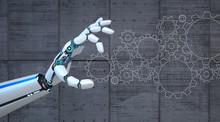 Robot Hand Gears Flat