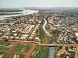 Aerial Drone view of niarela Quizambougou Niger Bamako Mali