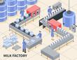 Milk Factory Illustration