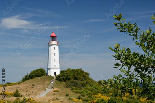Foto op Plexiglas Vuurtoren Leuchtturm auf der Insel Hiddensee, Am Dornbusch