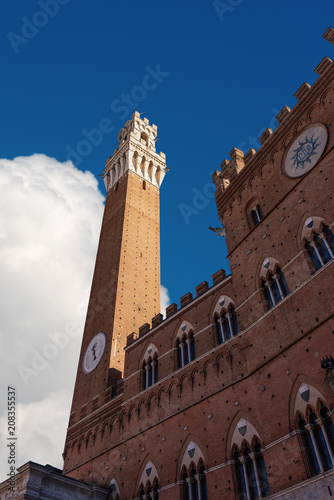 Keuken foto achterwand Historisch geb. Torre del Mangia and town hall of the city of Siena, Tuscany, Italy