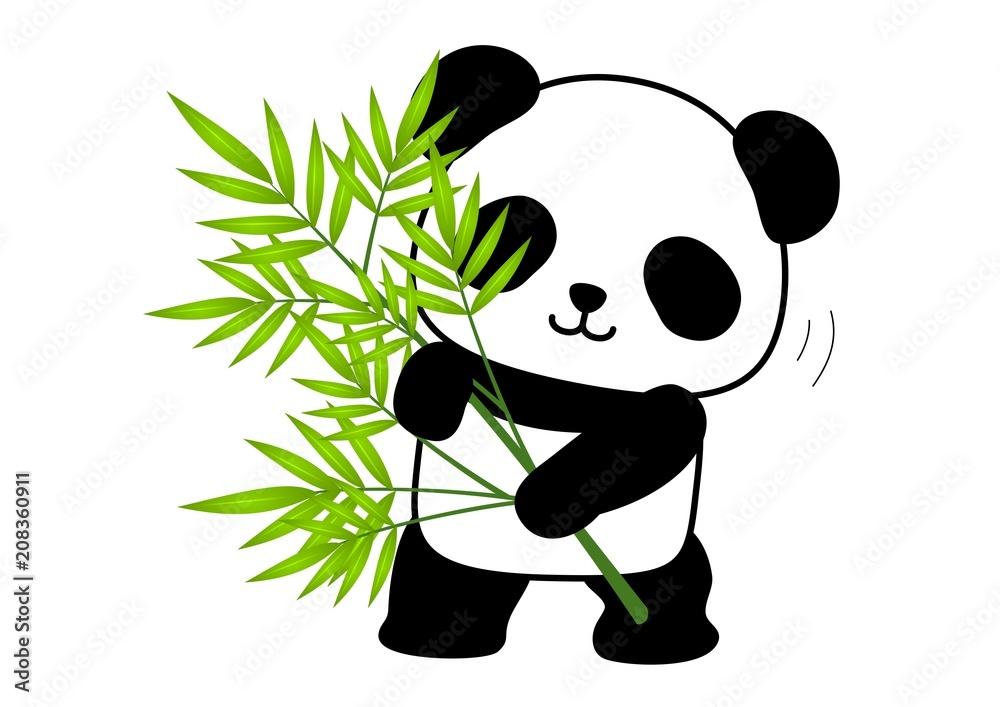 パンダ 笹 立つ