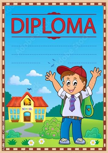 Deurstickers Voor kinderen Diploma template image 6