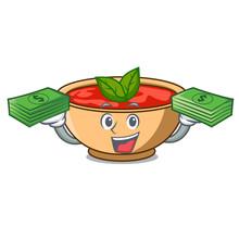 With Money Bag Tomato Soup Cha...