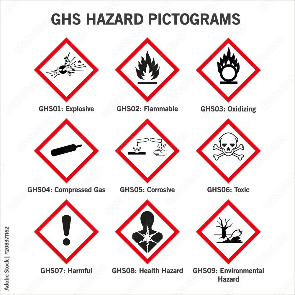 Fototapeta pictogramas de peligro