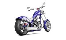 3D Render Biker Motorcycle On ...