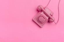 Vintage Phone On Color Background