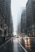 Cityscape In Winter, New York,...
