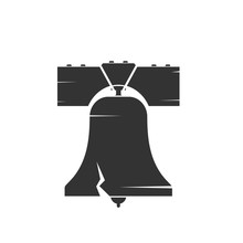 Liberty Bell Silhouette Icon. ...