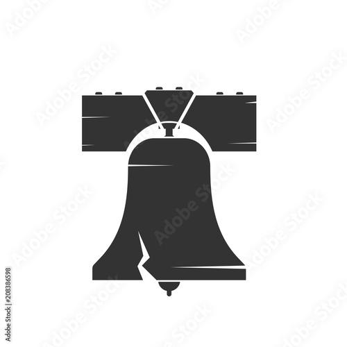 Fotografia  Liberty bell silhouette icon